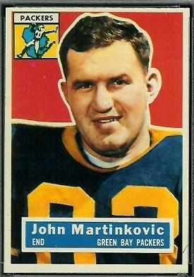 John Martinkovic 1956 Topps football card