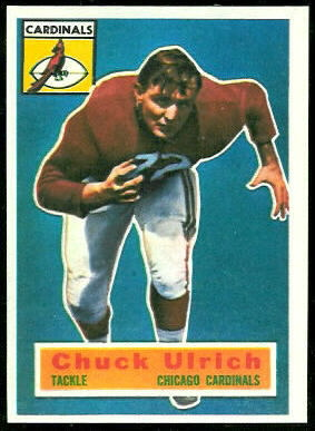 Chuck Ulrich 1956 Topps football card