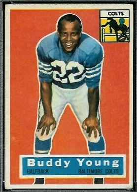 Buddy Young 1956 Topps football card