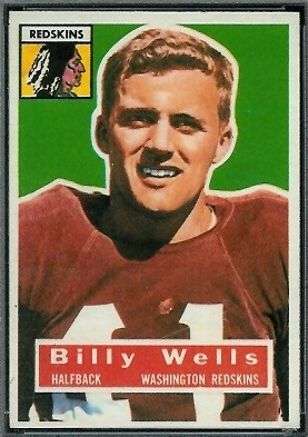 Billy Wells 1956 Topps football card
