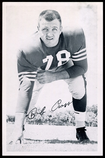 Bobby Cross 1957 49ers Team Issue football card