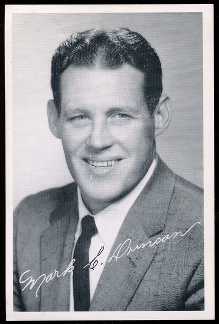 Mark Duncan 1957 49ers Team Issue football card