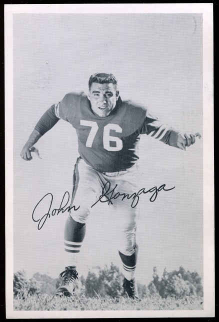 John Gonzaga 1957 49ers Team Issue football card