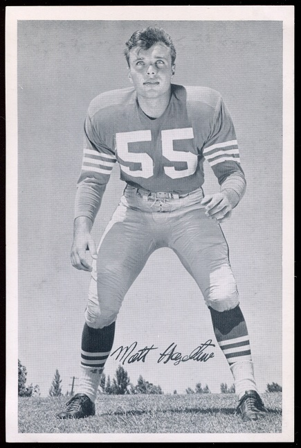 Matt Hazeltine 1957 49ers Team Issue football card