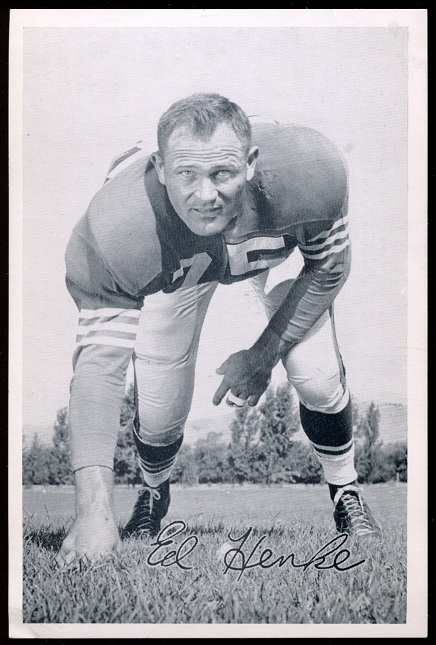 Ed Henke 1957 49ers Team Issue football card
