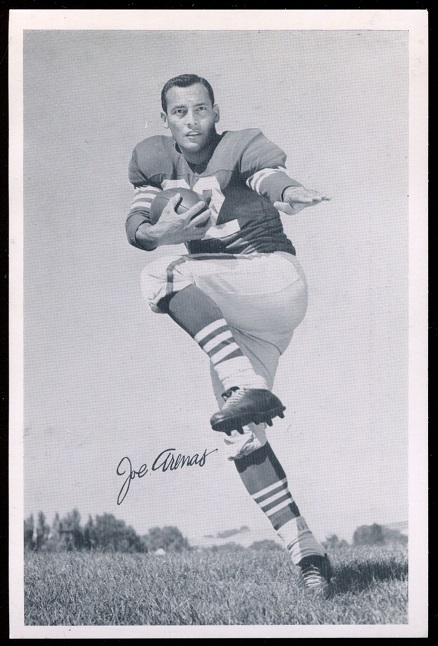 Joe Arenas 1957 49ers Team Issue football card