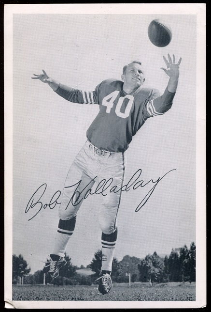 Bob Holladay 1957 49ers Team Issue football card