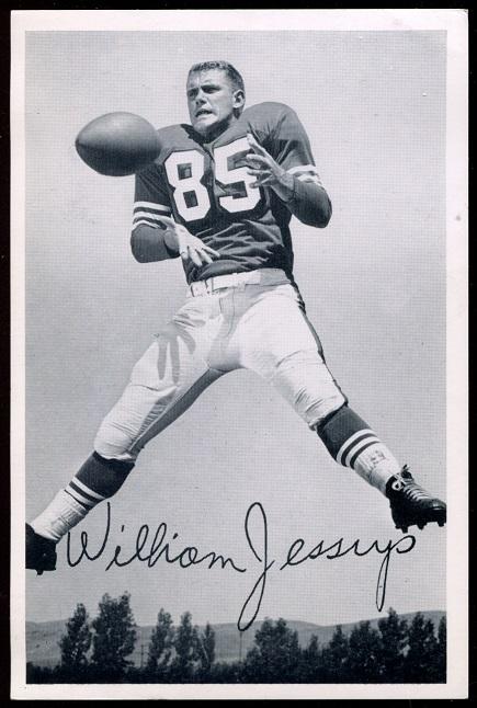 Bill Jessup 1957 49ers Team Issue football card