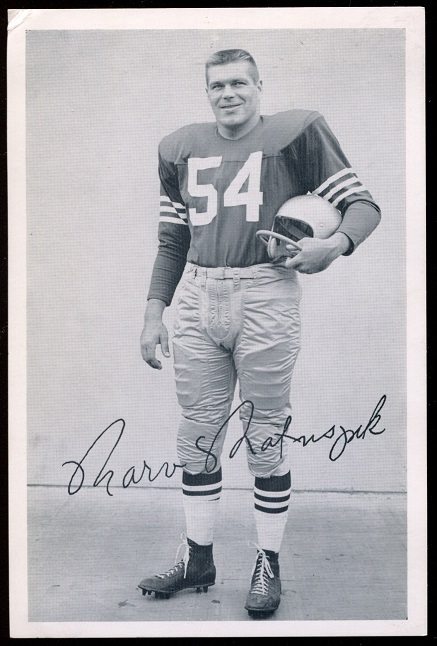 Marv Matuszak 1957 49ers Team Issue football card