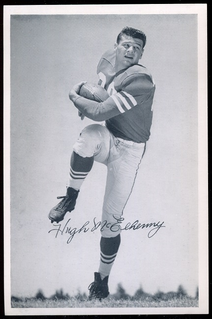Hugh McElhenny 1957 49ers Team Issue football card