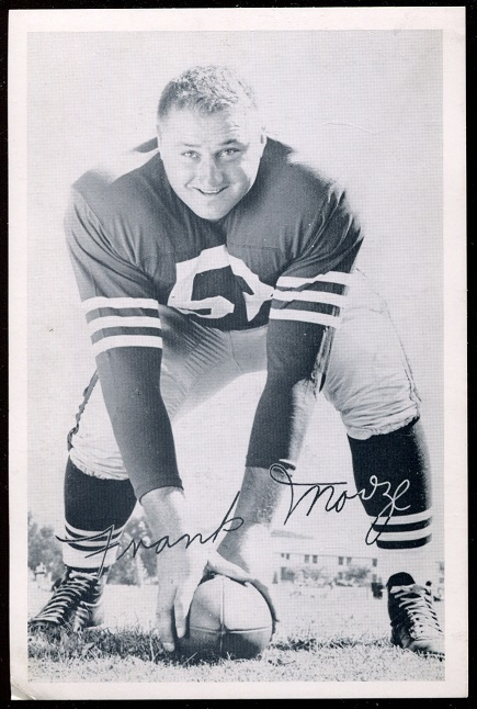 Frank Morze 1957 49ers Team Issue football card