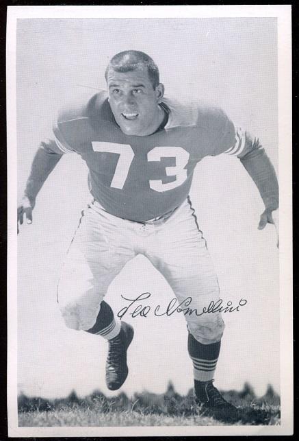 Leo Nomellini 1957 49ers Team Issue football card