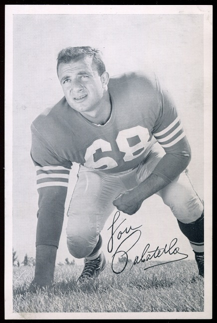 Lou Palatella 1957 49ers Team Issue football card