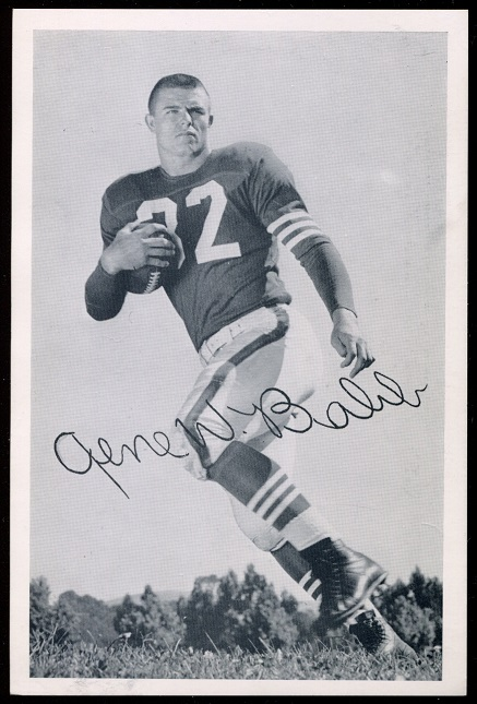 Gene Babb 1957 49ers Team Issue football card