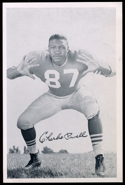 Charlie Powell 1957 49ers Team Issue football card