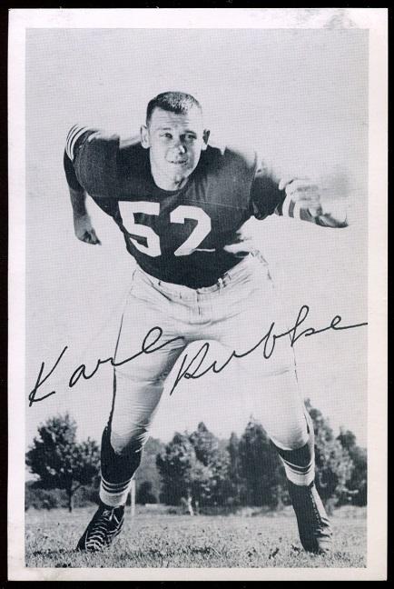 Karl Rubke 1957 49ers Team Issue football card