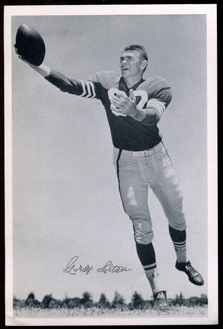 Gordon Soltau 1957 49ers Team Issue football card