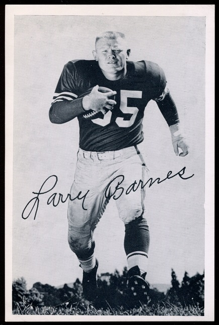 Larry Barnes 1957 49ers Team Issue football card