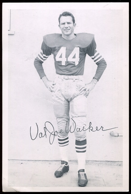 Val Joe Walker 1957 49ers Team Issue football card