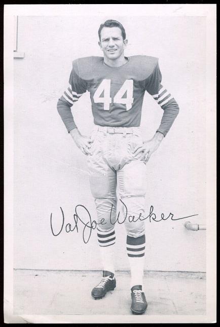 Val Joe Walker 1957 49ers Team Issue football card