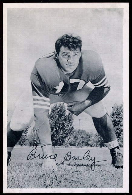 Bruce Bosley 1957 49ers Team Issue football card
