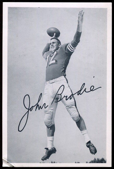 John Brodie 1957 49ers Team Issue football card