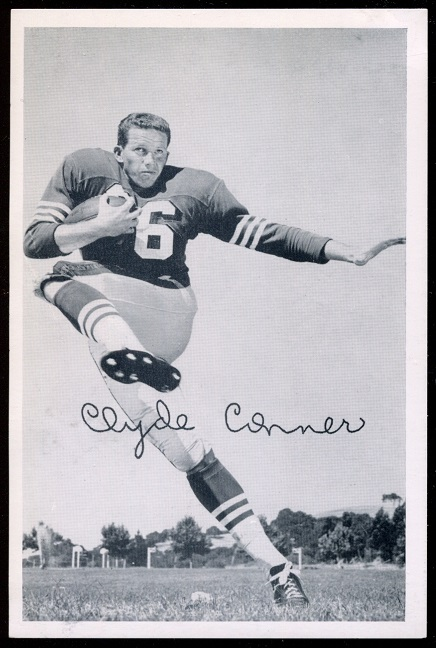 Clyde Conner 1957 49ers Team Issue football card