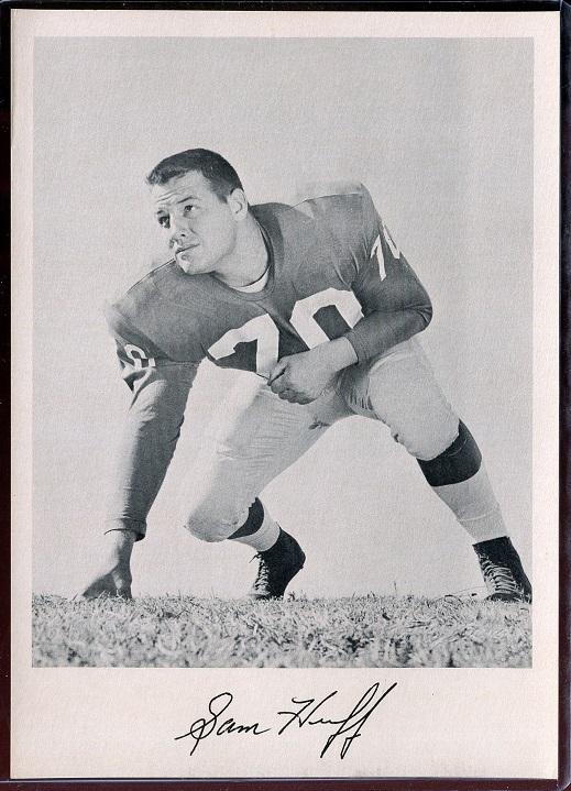 Sam Huff 1957 Giants Team Issue football card