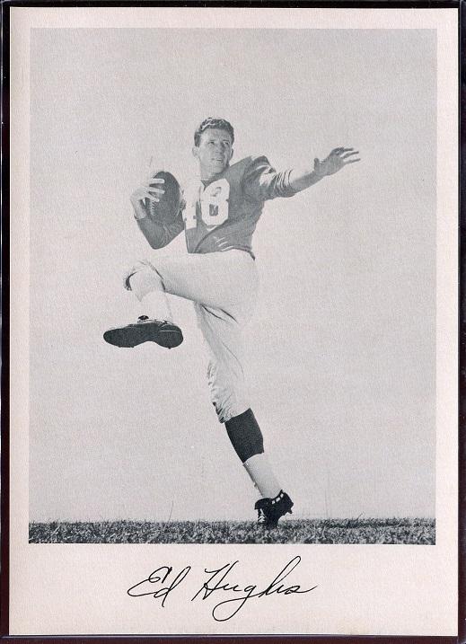Ed Hughes 1957 Giants Team Issue football card