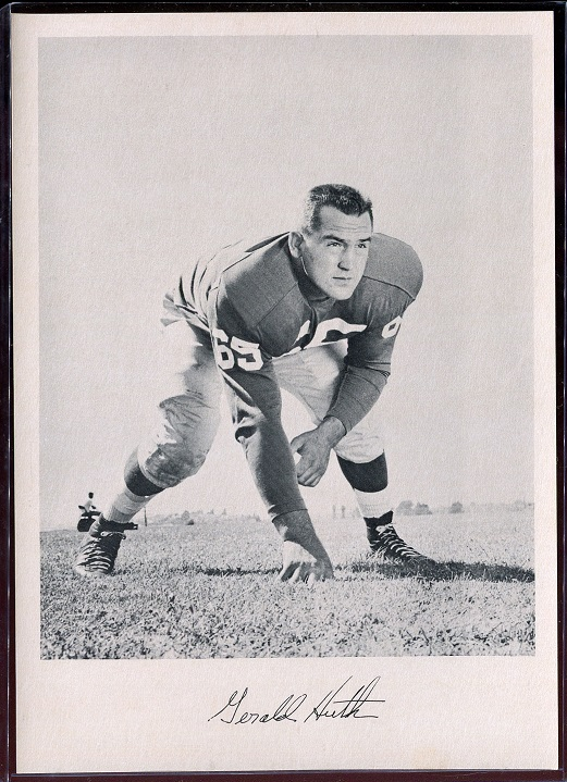 Gerry Huth 1957 Giants Team Issue football card