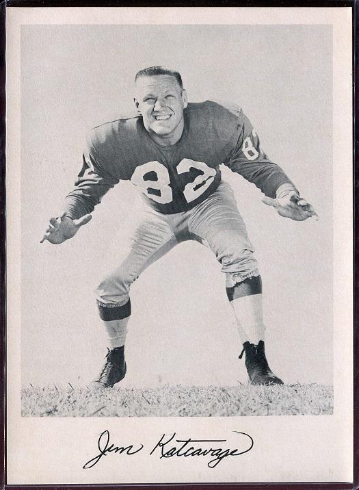Jim Katcavage 1957 Giants Team Issue football card