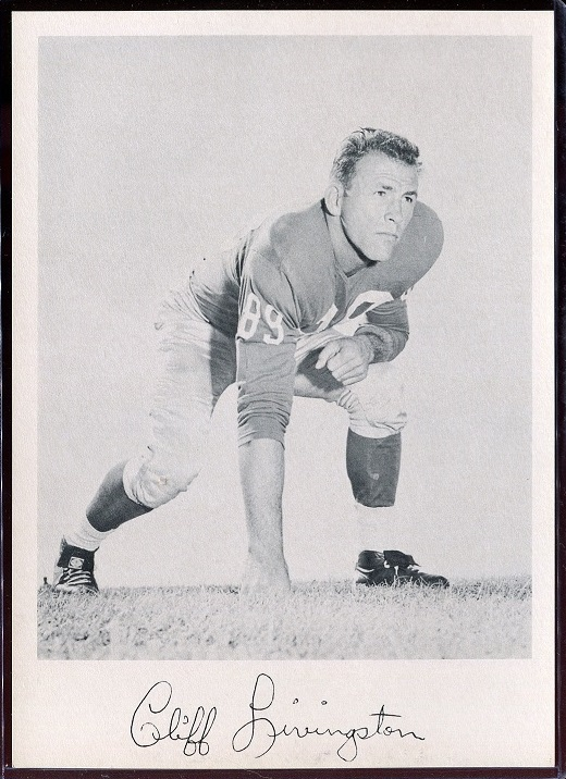 Cliff Livingston 1957 Giants Team Issue football card