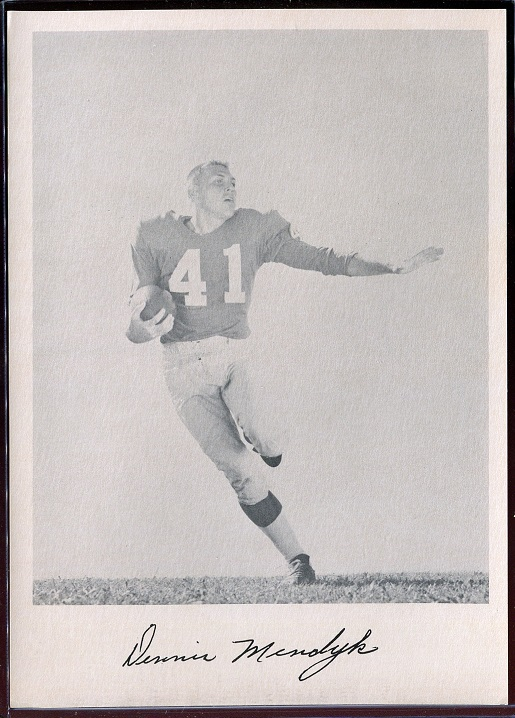 Ken MacAfee 1957 Giants Team Issue football card
