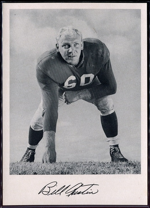Bill Austin 1957 Giants Team Issue football card
