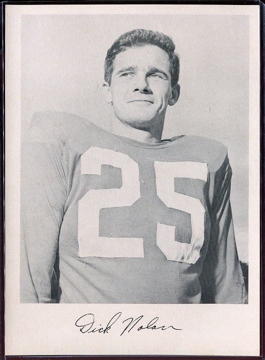 Dick Nolan 1957 Giants Team Issue football card