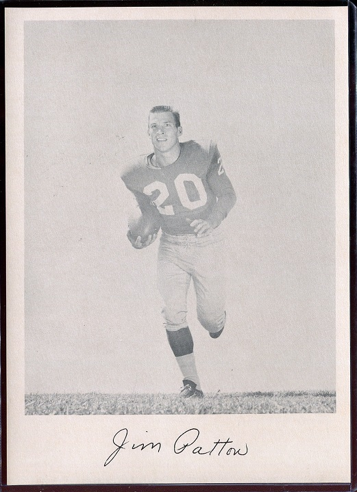 Jim Patton 1957 Giants Team Issue football card