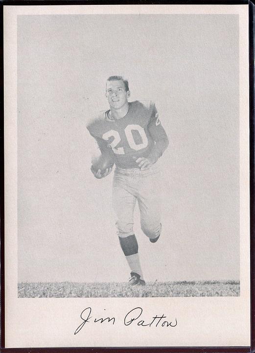 Jim Patton 1957 Giants Team Issue football card