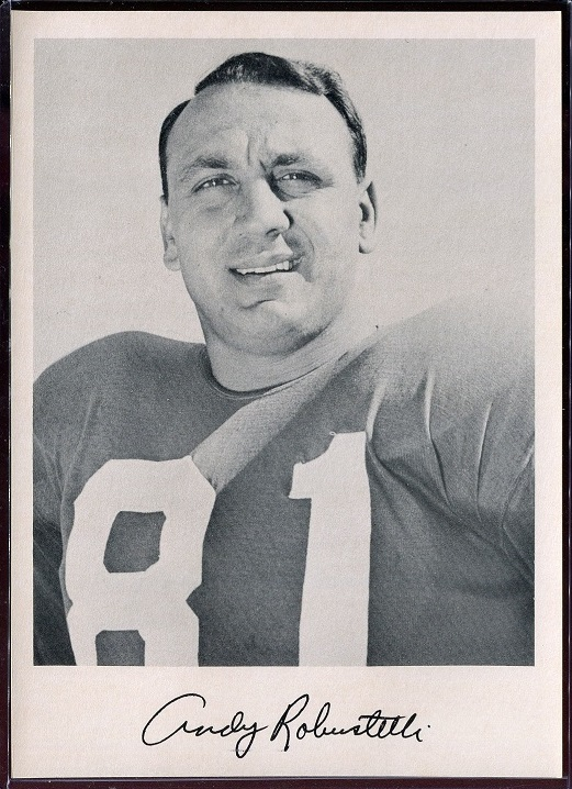Andy Robustelli 1957 Giants Team Issue football card