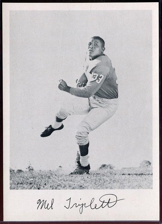 Mel Triplett 1957 Giants Team Issue football card