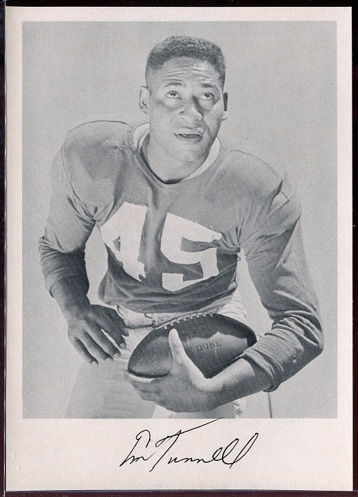 Emlen Tunnell 1957 Giants Team Issue football card