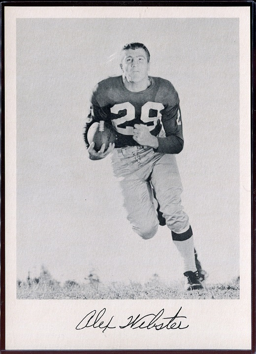 Alex Webster 1957 Giants Team Issue football card