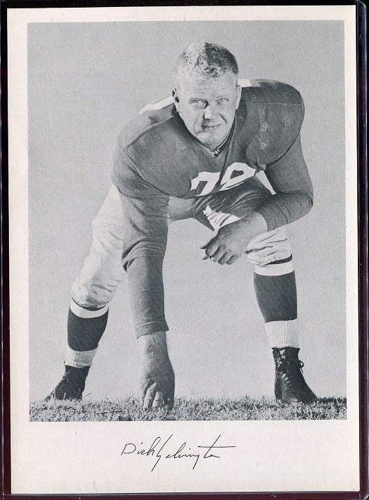 Dick Yelvington 1957 Giants Team Issue football card