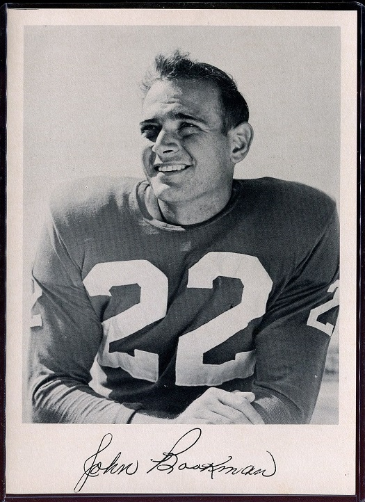 John Bookman 1957 Giants Team Issue football card