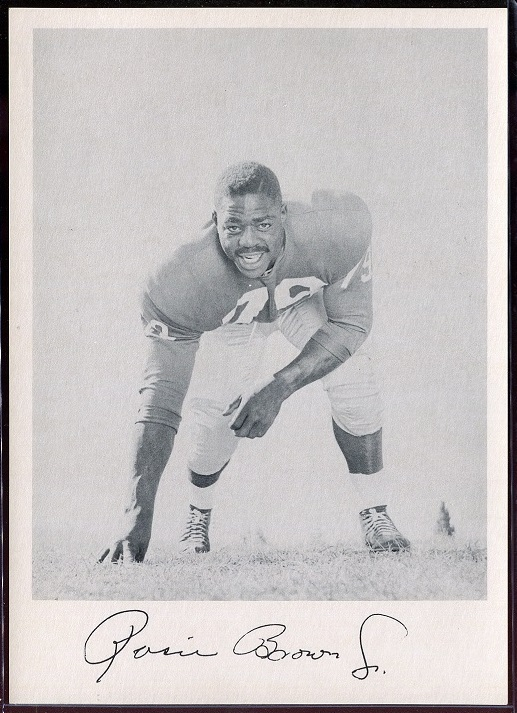 Roosevelt Brown 1957 Giants Team Issue football card