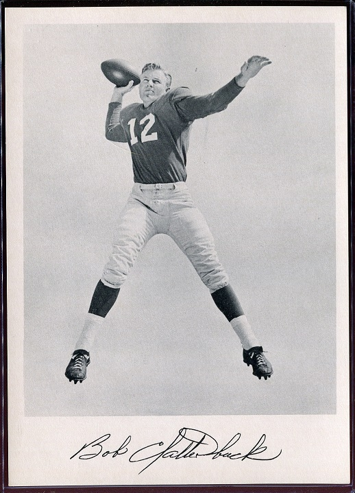 Bob Clatterbuck 1957 Giants Team Issue football card