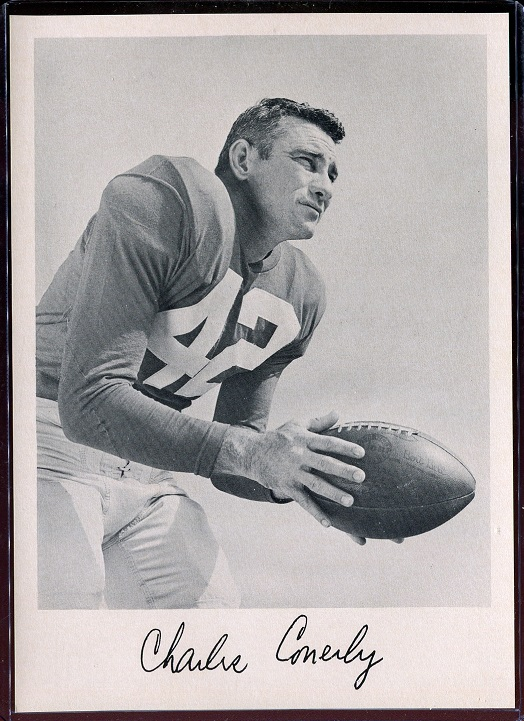 Charley Conerly 1957 Giants Team Issue football card