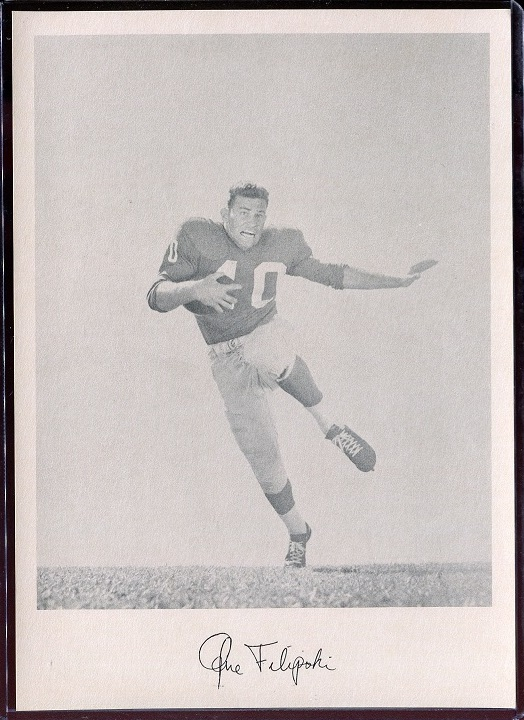Gene Filipski 1957 Giants Team Issue football card