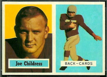 Joe Childress 1957 Topps football card