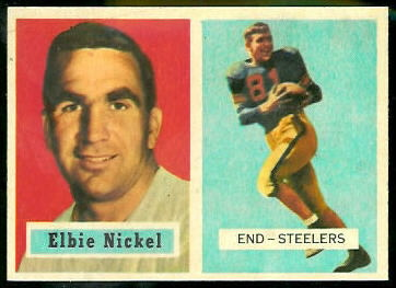 Elbert Nickel 1957 Topps football card