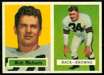 Walt Michaels 1957 Topps football card